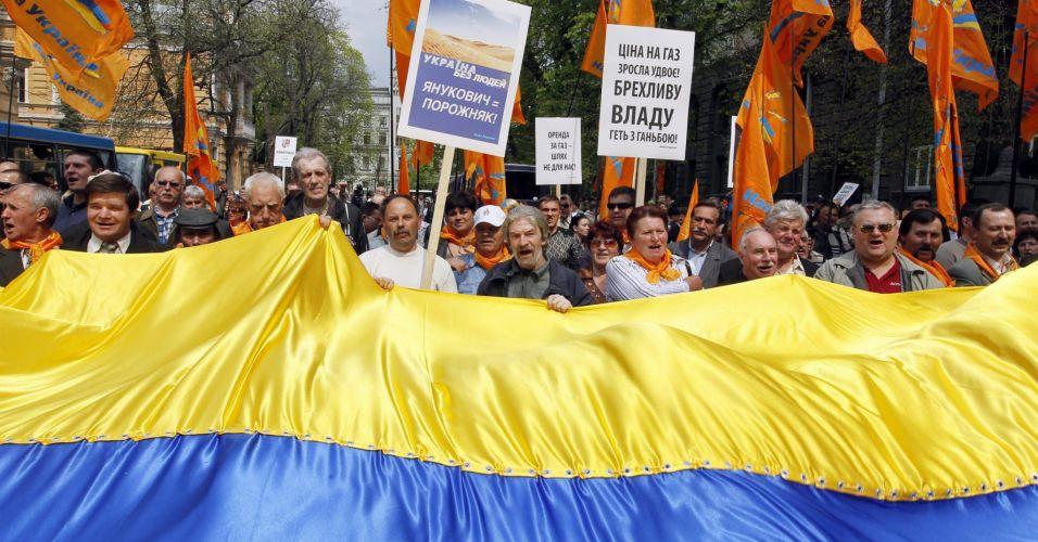 Manifestação em Kiev (Ucrânia)