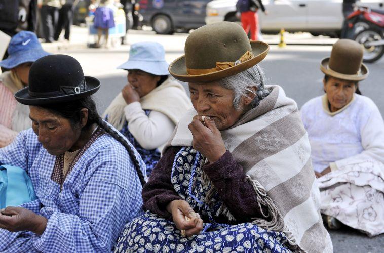 Aposentados protestam em La Paz