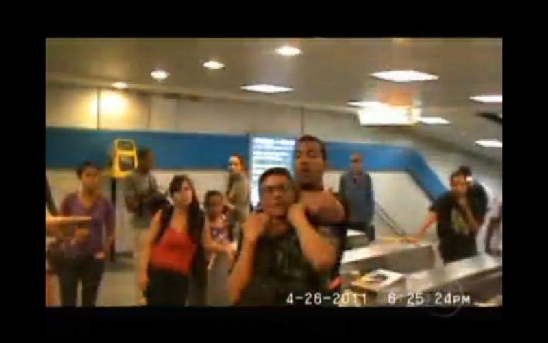 Confusão no metrô do Rio