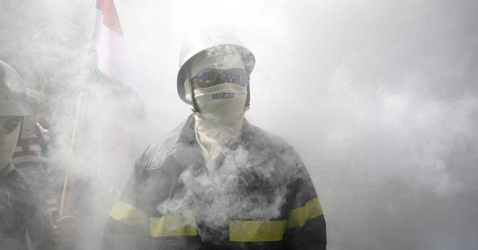 Protesto de bombeiro