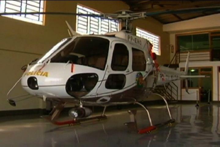 Helicóptero parado em GO