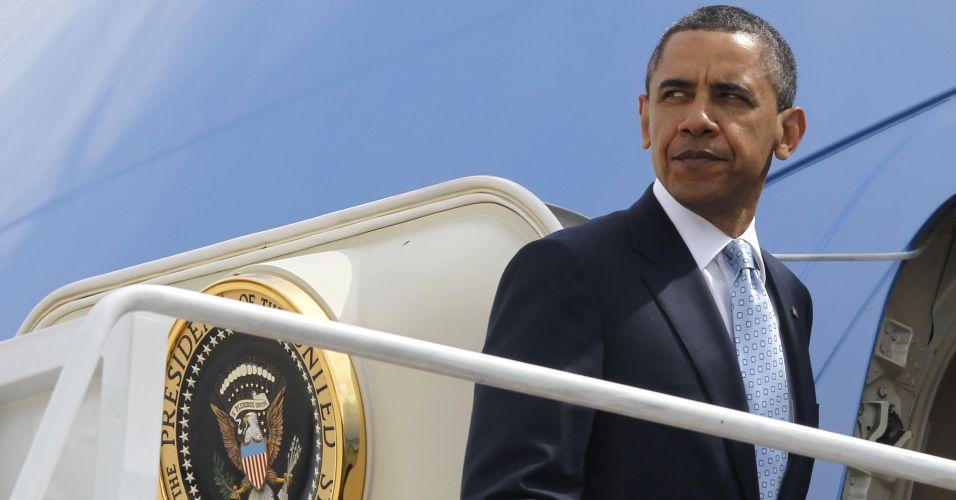Obama embarca nos EUA