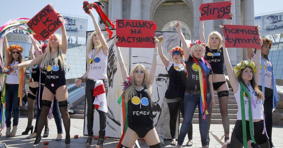 Ativistas na Ucrânia