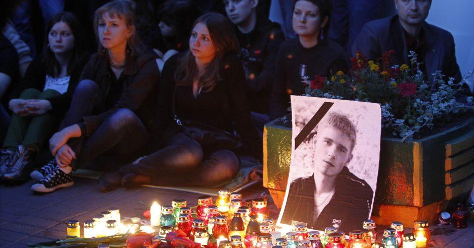 Luto por estudante em Kiev