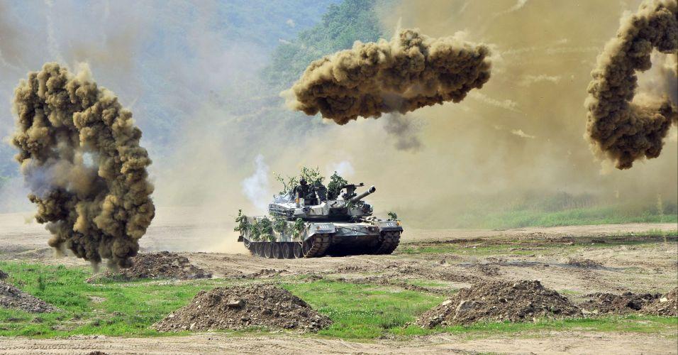 Exercício militar na Coreia do Sul