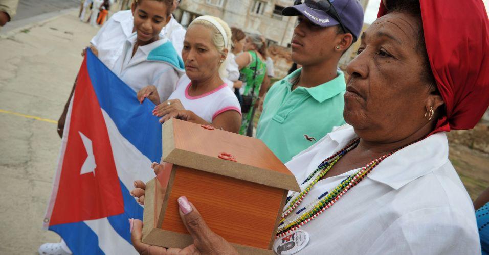 Cinzas de preso político cubano