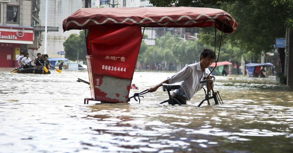 Inundação na China