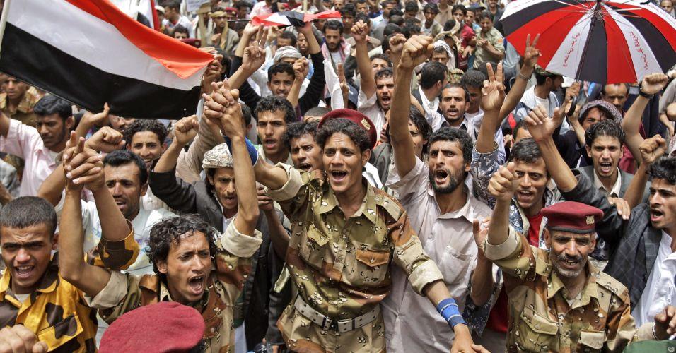 Manifestação no Iêmen