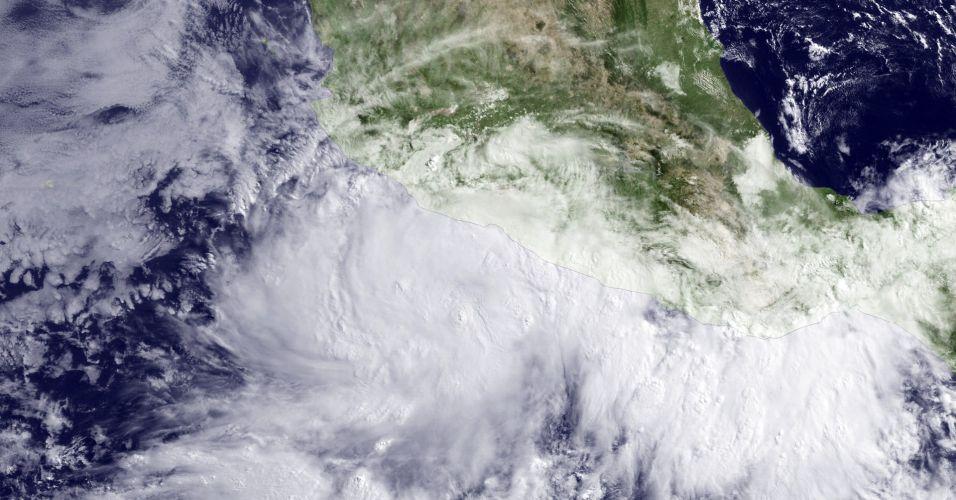 Tempestade na costa do México