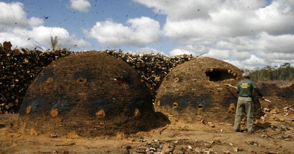 Carvão ilegal na Bahia