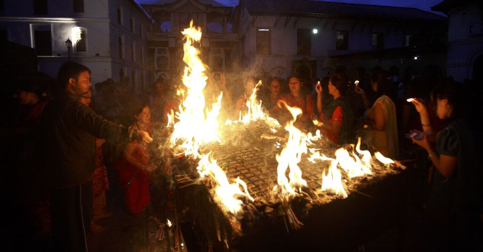 Preces de devotos hindus
