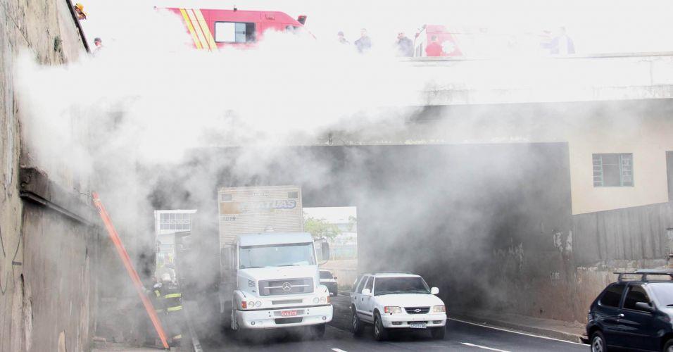 Incêndio na Marginal Tietê (SP)