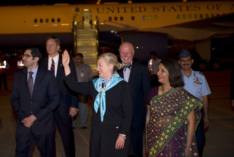 Hillary Clinton na Índia