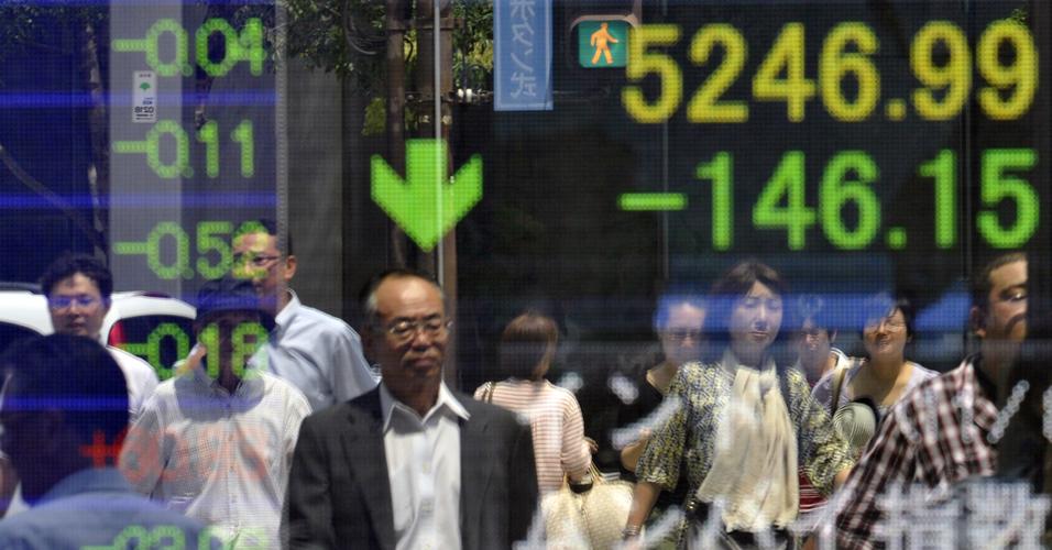 Nikkei em baixa
