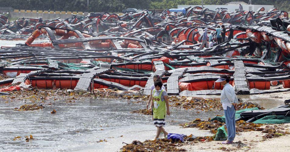 Tufão na Coreia do Sul