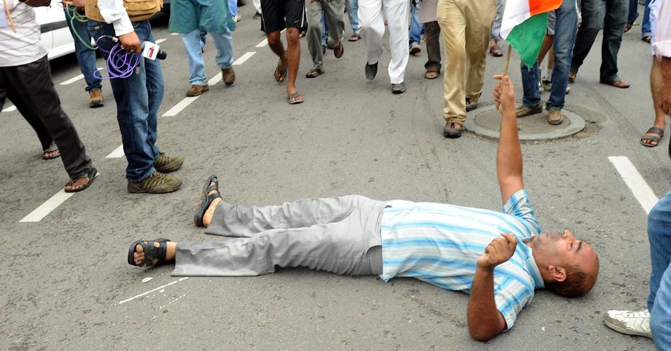 Protesto na Índia