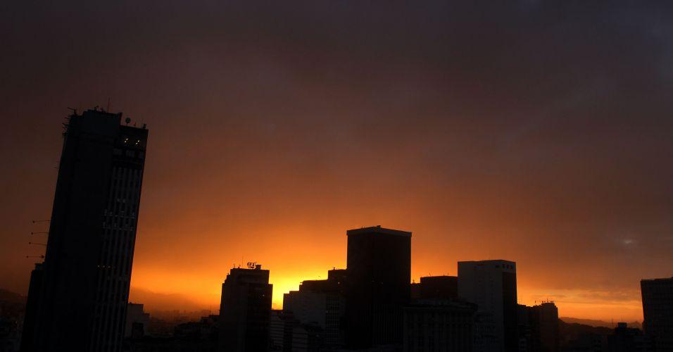 Pôr-do-sol no Rio