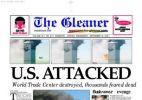 Imprensa mundial noticia os atentados de 11/9 - Reprodução