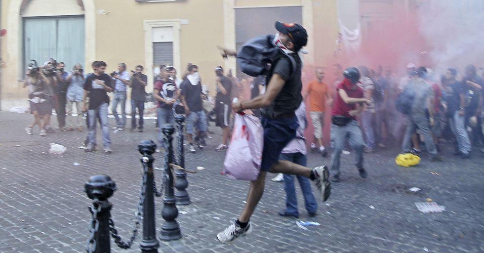 Protesto contra pacote de austeridade italiano