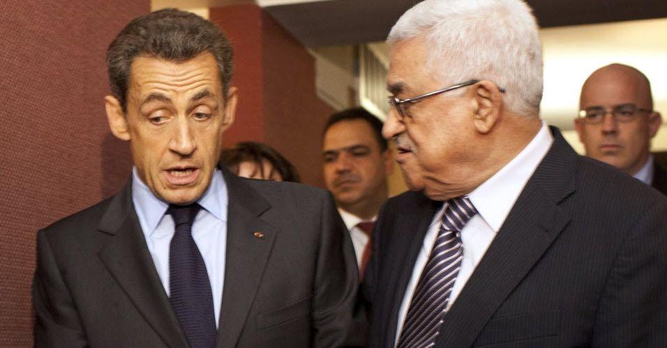 Sarkozy e Abbas