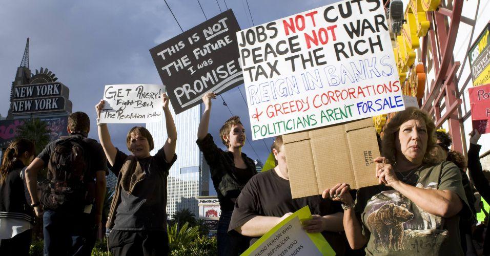 Protesto em Las Vegas