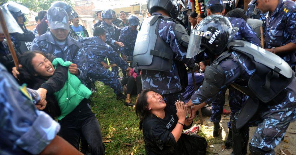 Manifestação no Nepal