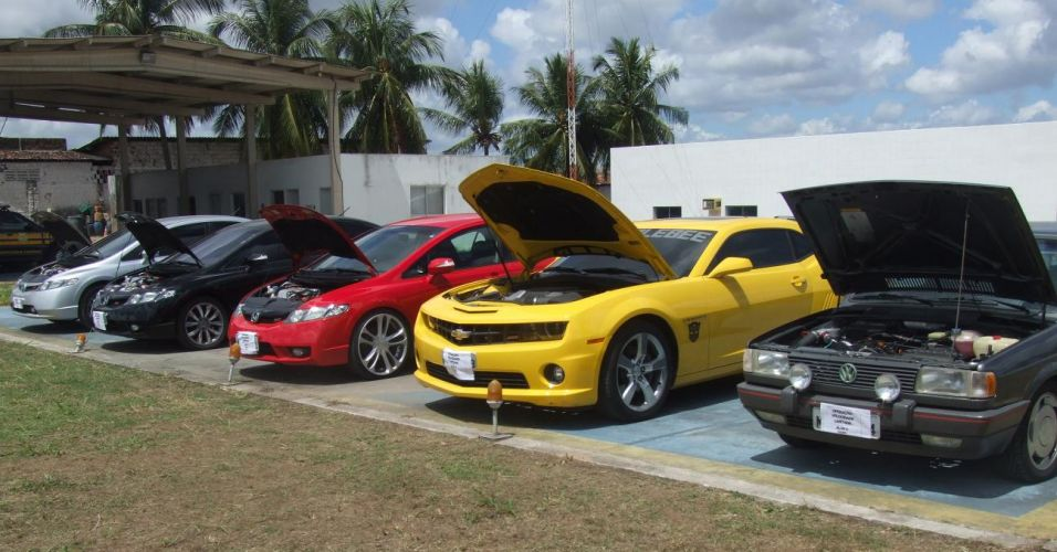 Apreensão de carros na Paraíba