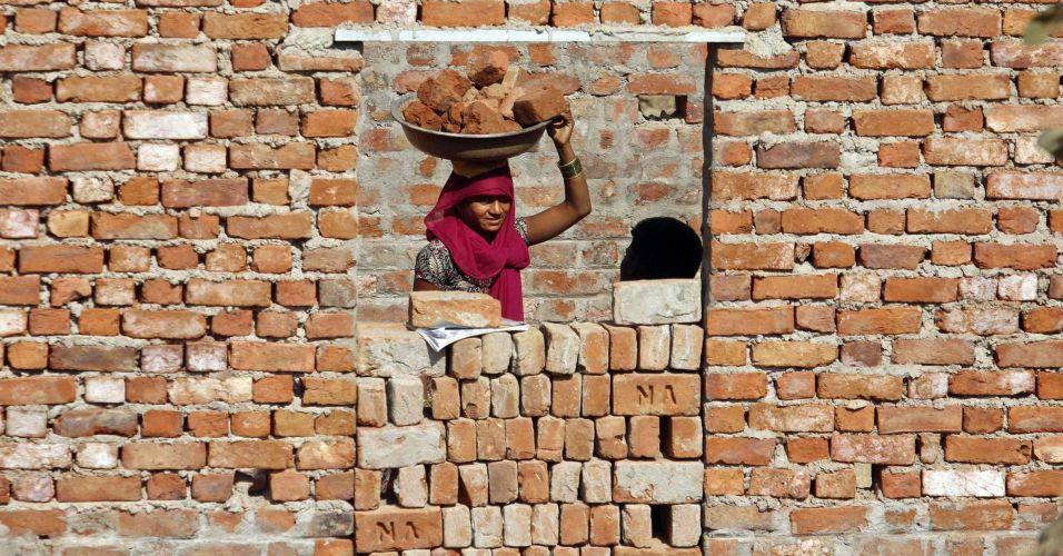 Tijolos na Índia
