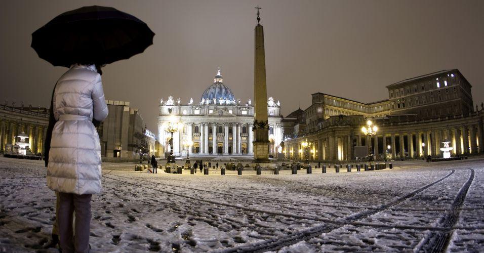 Neve no Vaticano