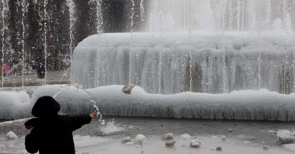 Fonte quase congelada na Itália