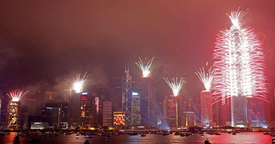 Chegada de 2012 em Hong Kong