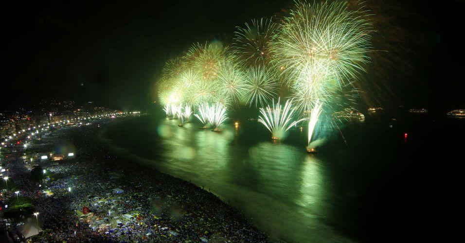 Fogos em Copacabana