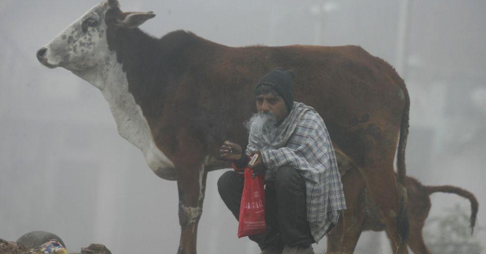 Fria manhã na Índia