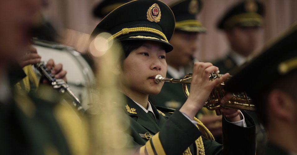 Banda militar em Xangai