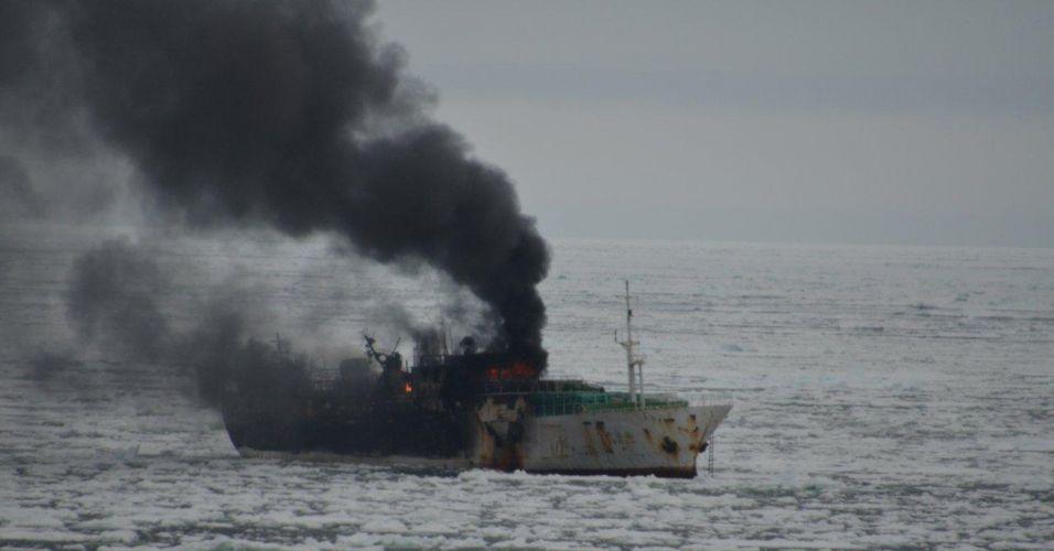 Incêndio em alto mar