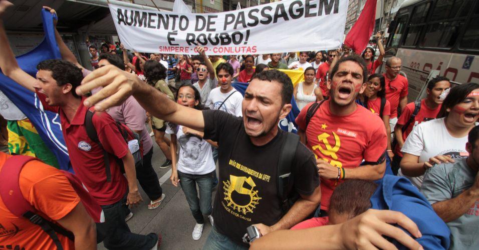 Protesto em Recife
