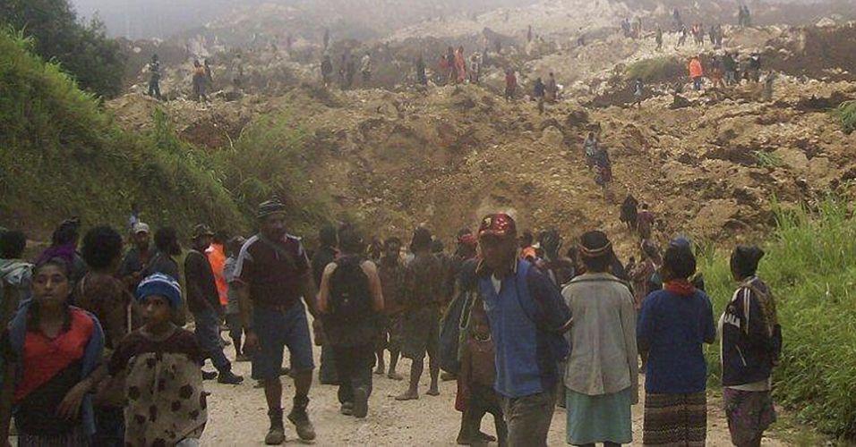 Deslizamento de terra em Papua Nova Guiné