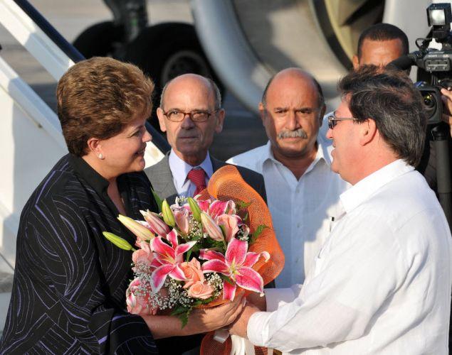Dilma Rousseff em Havana (Cuba)