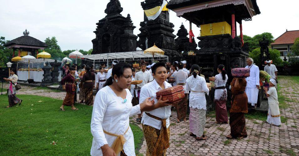 Festival religioso em Bali