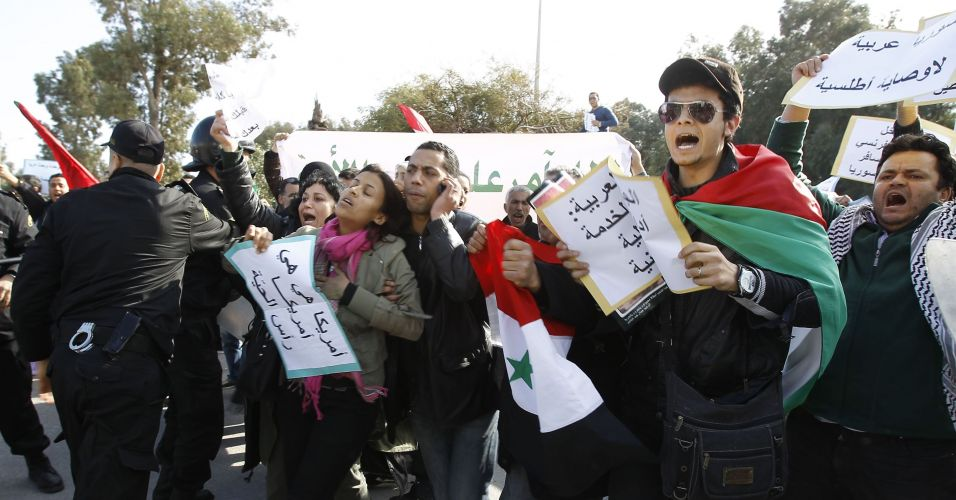 Protesto na Tunísia