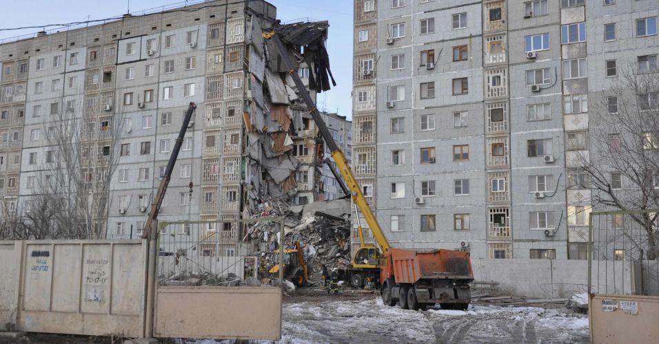 Desabamento na Rússia