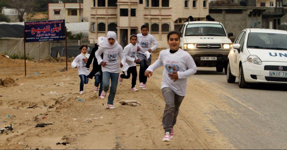 Corrida de palestinos