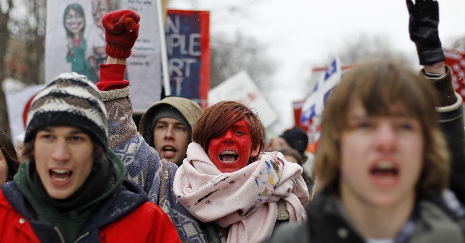 Protesto no Canadá