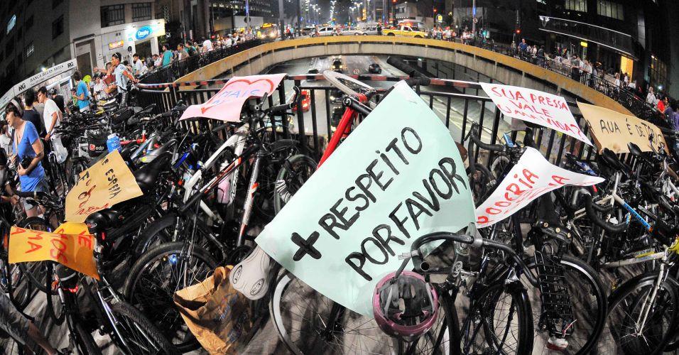 Protesto de ciclistas (SP)