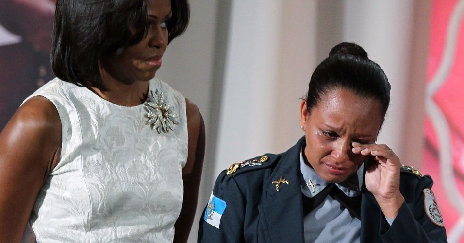 Brasileira homenageada por Michelle Obama