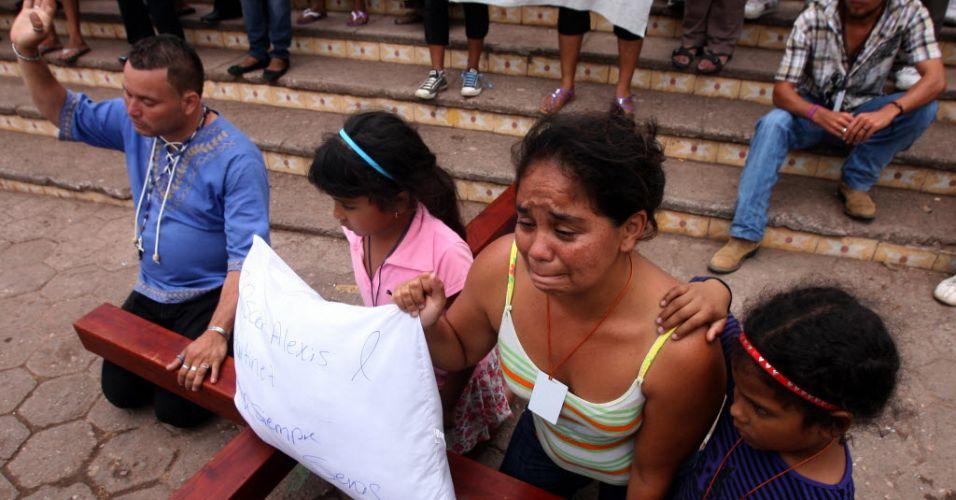 Protesto em Honduras