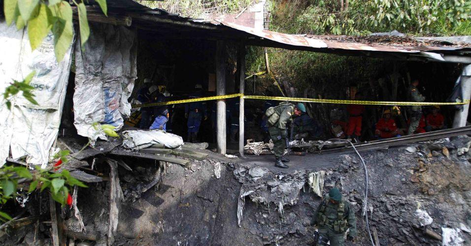Acidente em mina colombiana
