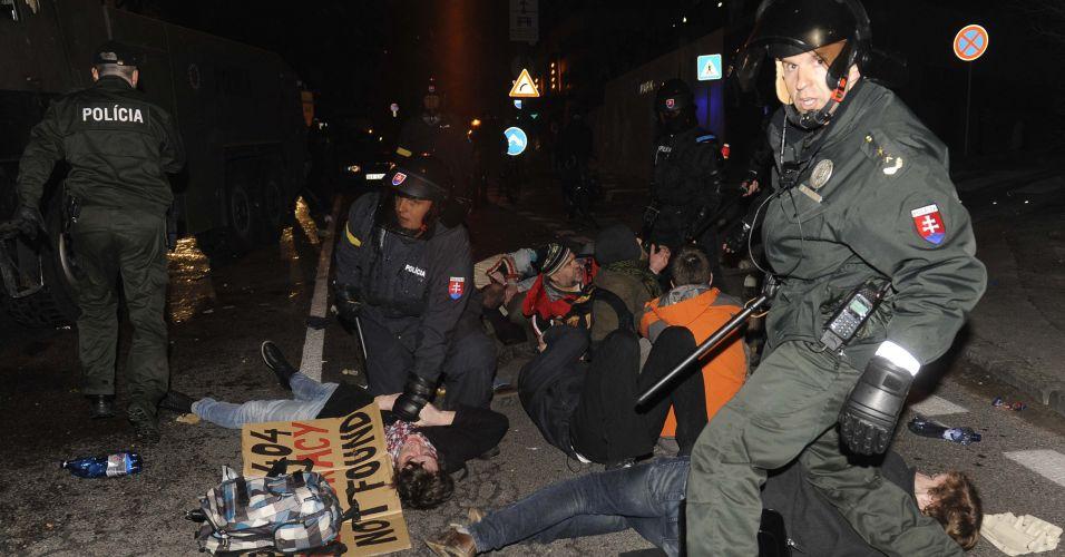 Protesto na Eslováquia